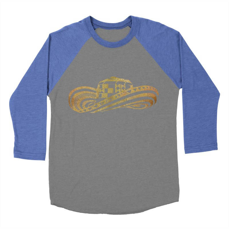 Colombian Sombrero Vueltiao in Gold Leaf  Men's Baseball Triblend T-Shirt by zuzugraphics's Artist Shop