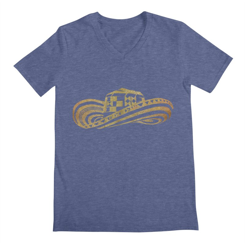 Colombian Sombrero Vueltiao in Gold Leaf Men's Regular V-Neck by zuzugraphics's Artist Shop