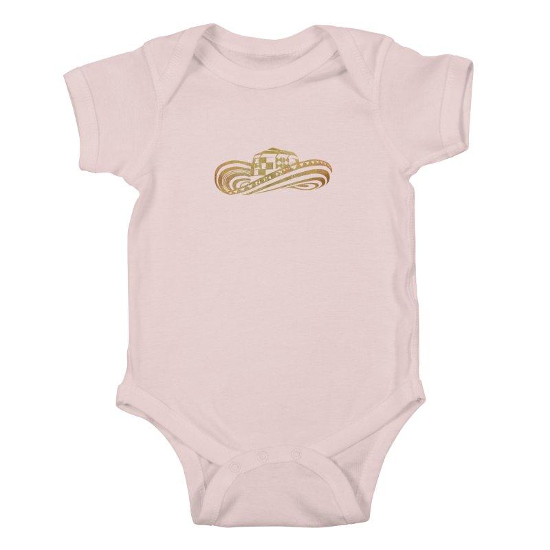 Colombian Sombrero Vueltiao in Gold Leaf Kids Baby Bodysuit by zuzugraphics's Artist Shop