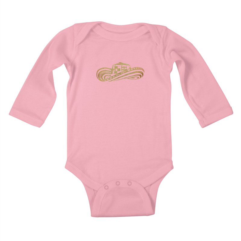 Colombian Sombrero Vueltiao in Gold Leaf Kids Baby Longsleeve Bodysuit by zuzugraphics's Artist Shop