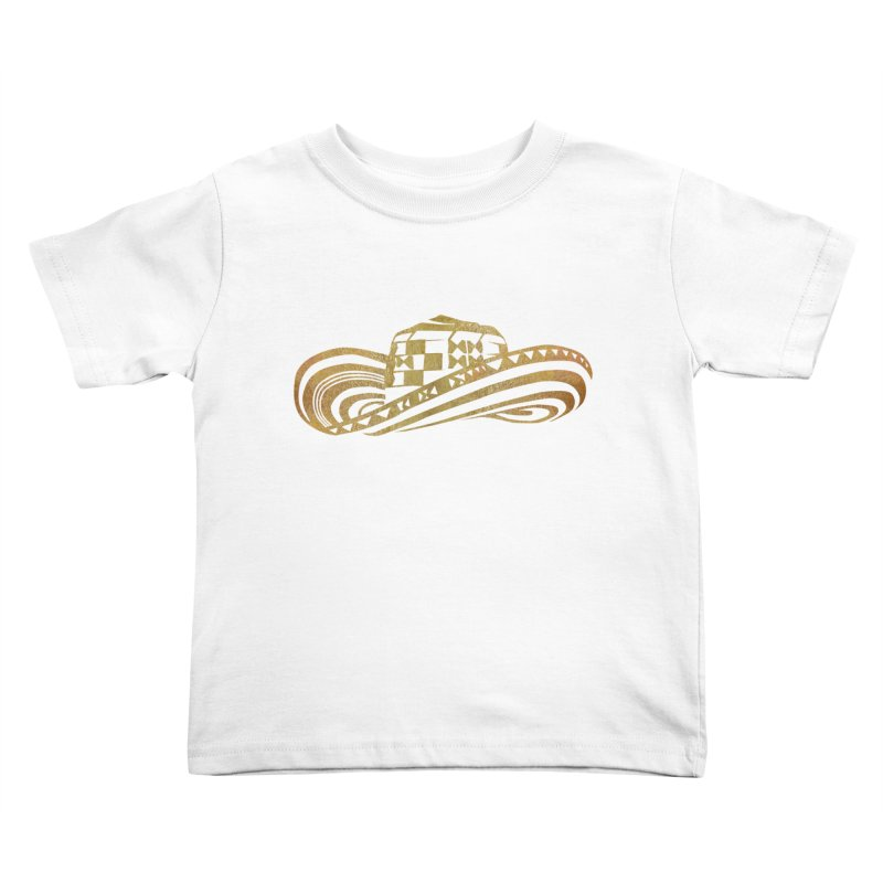 Colombian Sombrero Vueltiao in Gold Leaf Kids Toddler T-Shirt by zuzugraphics's Artist Shop