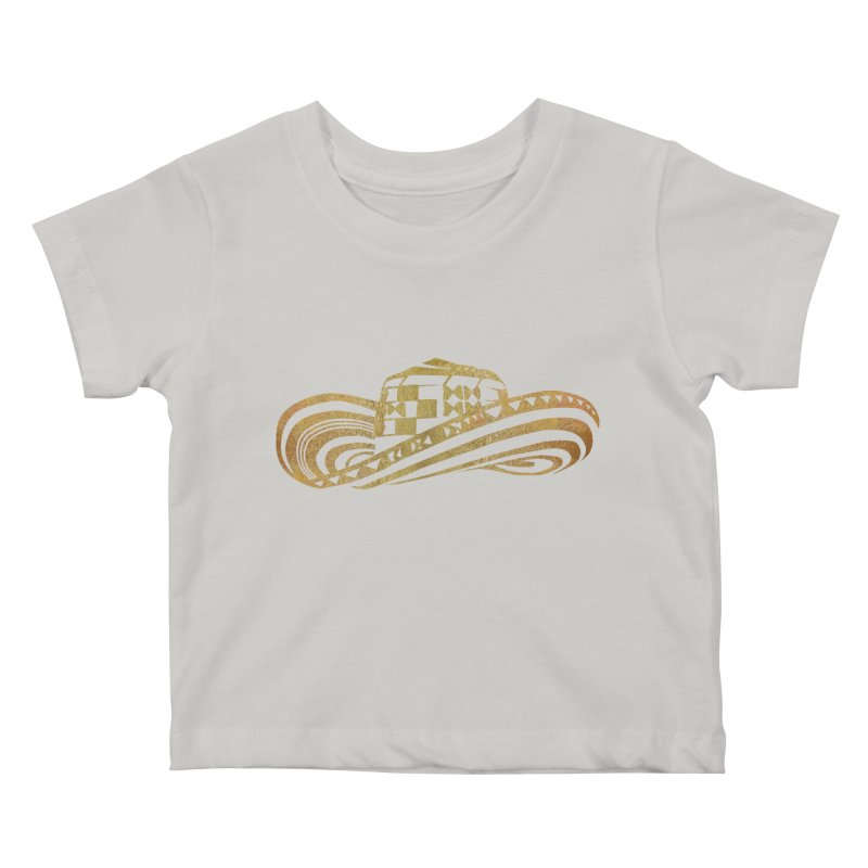 Colombian Sombrero Vueltiao in Gold Leaf  Kids Baby T-Shirt by zuzugraphics's Artist Shop