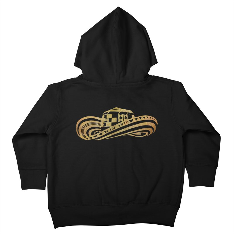 Colombian Sombrero Vueltiao in Gold Leaf Kids Toddler Zip-Up Hoody by zuzugraphics's Artist Shop
