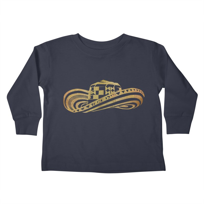 Colombian Sombrero Vueltiao in Gold Leaf Kids Toddler Longsleeve T-Shirt by zuzugraphics's Artist Shop
