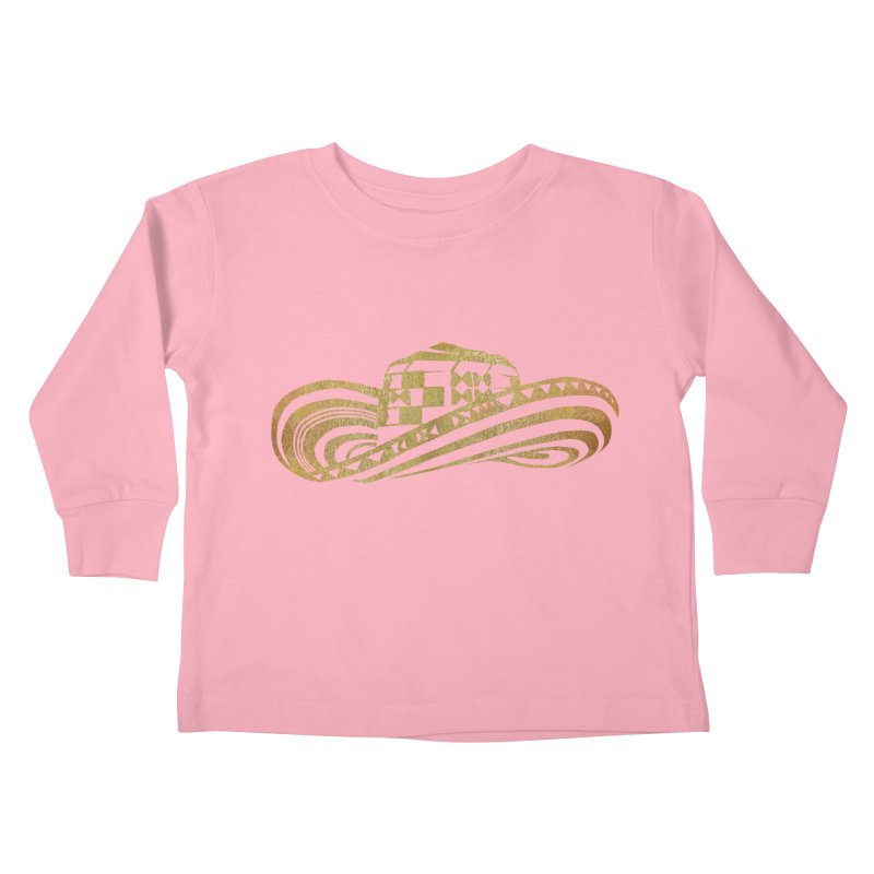 Colombian Sombrero Vueltiao in Gold Leaf Kids Toddler Longsleeve T-Shirt by zuzugraphics's Artist Shop