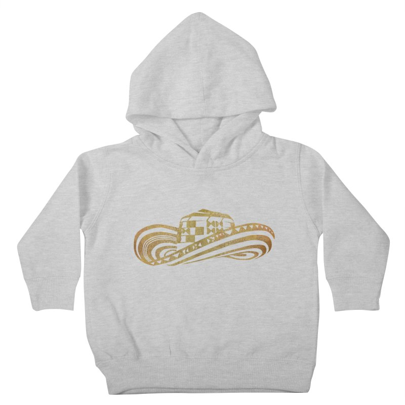 Colombian Sombrero Vueltiao in Gold Leaf Kids Toddler Pullover Hoody by zuzugraphics's Artist Shop