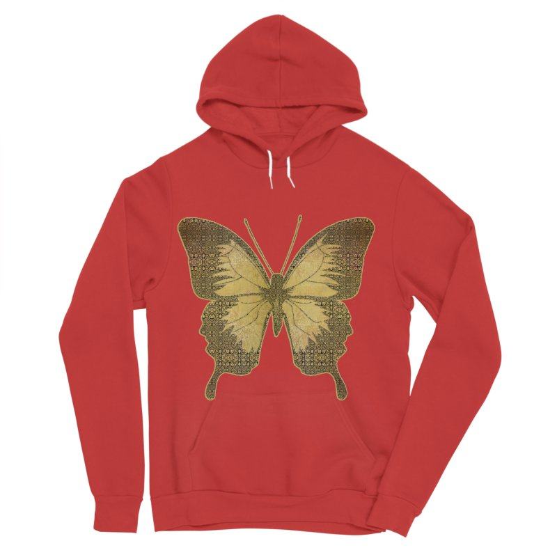 Golden Butterfly Men's Pullover Hoody by zuzugraphics's Artist Shop