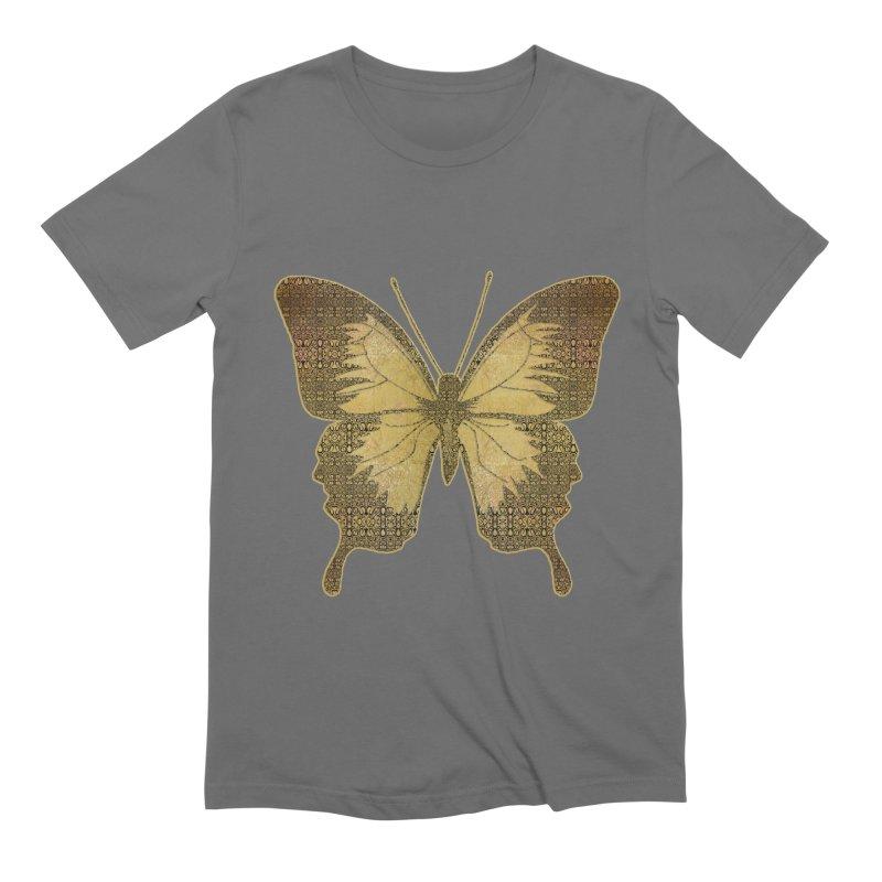 Golden Butterfly Men's T-Shirt by zuzugraphics's Artist Shop
