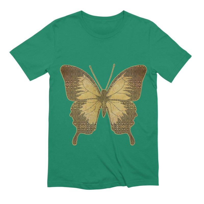 Golden Butterfly Men's Extra Soft T-Shirt by zuzugraphics's Artist Shop