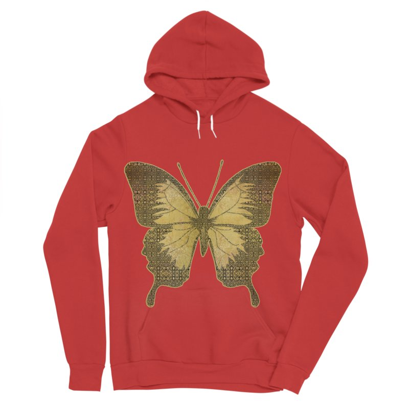Golden Butterfly Men's Sponge Fleece Pullover Hoody by zuzugraphics's Artist Shop