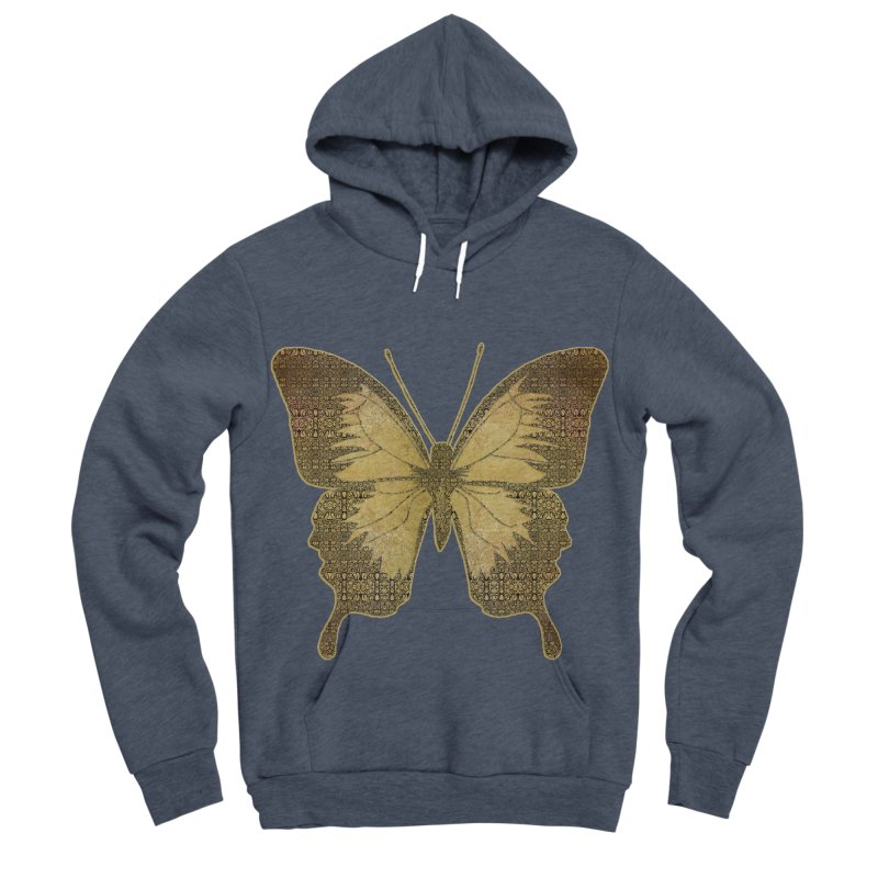 Golden Butterfly Men's Sponge Fleece Pullover Hoody by zuzugraphics's Artist Shop