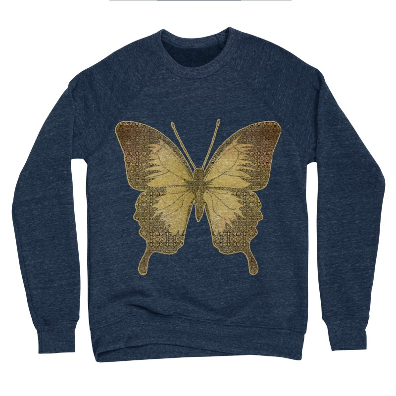 Golden Butterfly Men's Sponge Fleece Sweatshirt by zuzugraphics's Artist Shop
