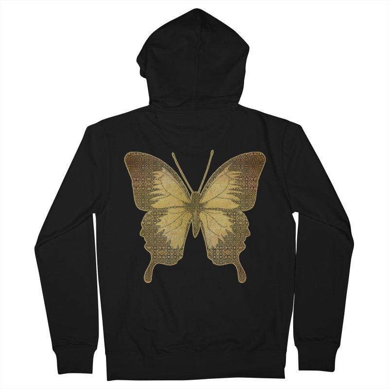 Golden Butterfly Women's Zip-Up Hoody by zuzugraphics's Artist Shop