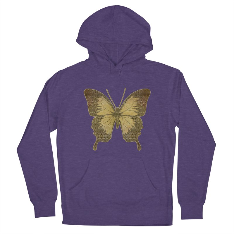 Golden Butterfly Men's French Terry Pullover Hoody by zuzugraphics's Artist Shop
