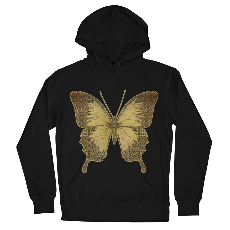 Golden Butterfly Women's French Terry Pullover Hoody by zuzugraphics's Artist Shop