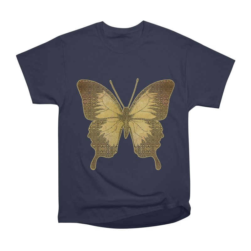 Golden Butterfly Men's Heavyweight T-Shirt by zuzugraphics's Artist Shop