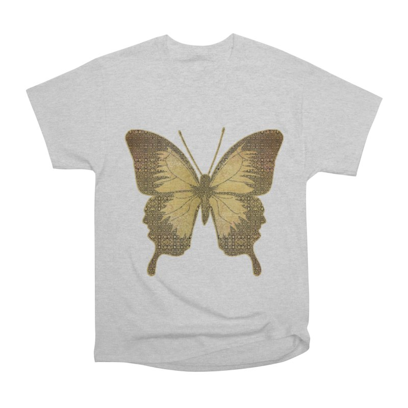 Golden Butterfly Men's Heavyweight T-Shirt by zuzugraphics's Artist Shop