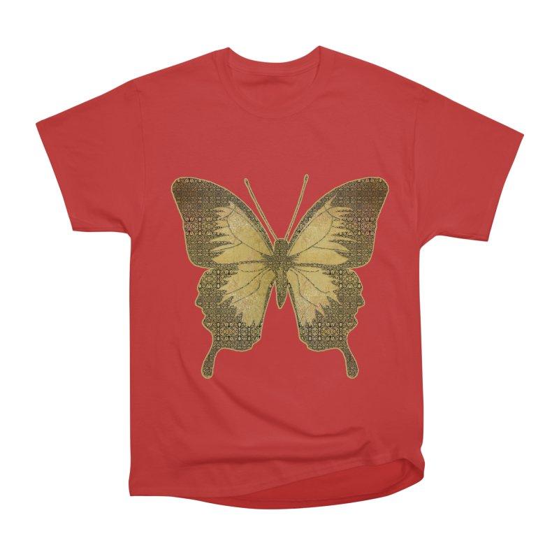 Golden Butterfly Women's Heavyweight Unisex T-Shirt by zuzugraphics's Artist Shop