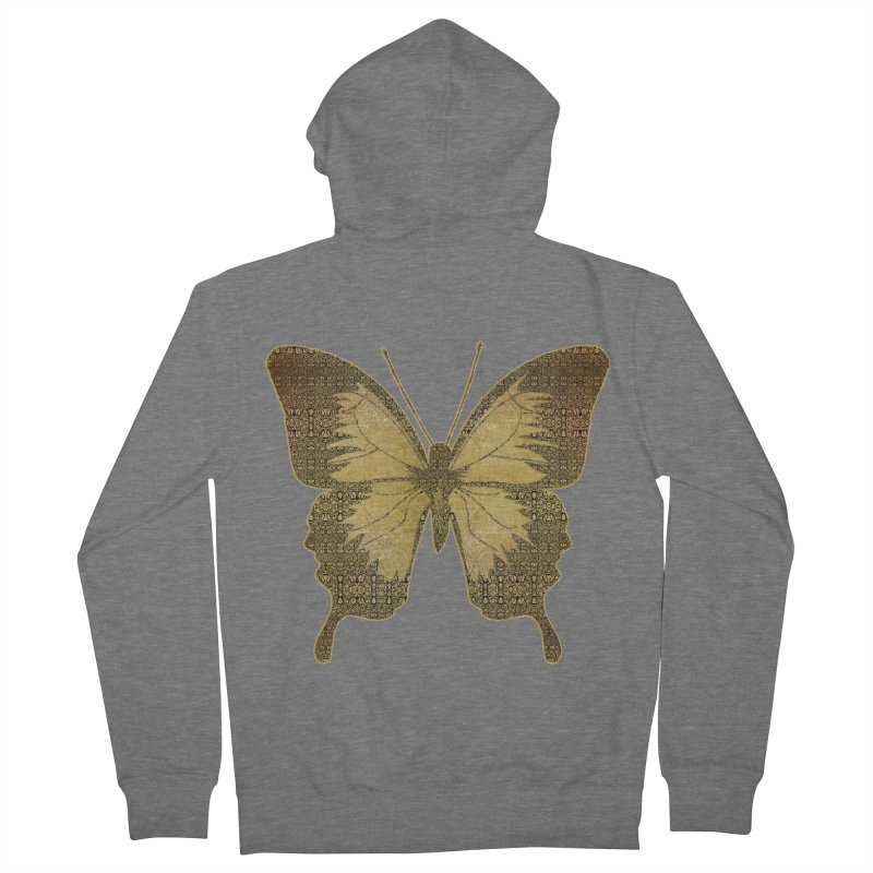 Golden Butterfly Women's French Terry Zip-Up Hoody by zuzugraphics's Artist Shop