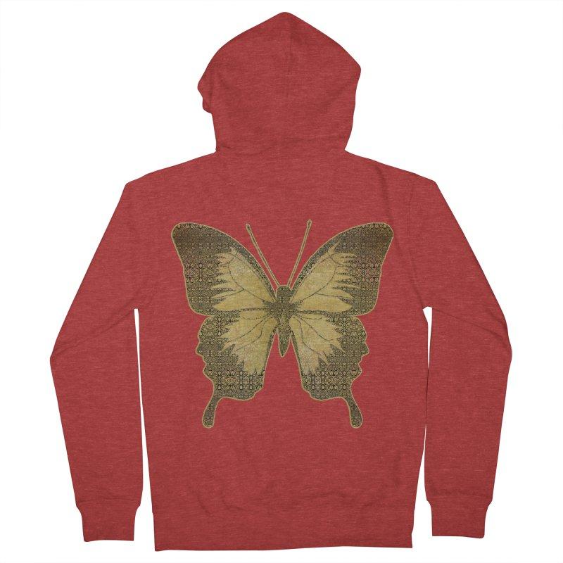 Golden Butterfly Women's French Terry Zip-Up Hoody by zuzugraphics's Artist Shop