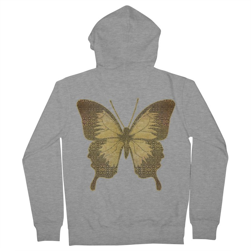 Golden Butterfly Men's Zip-Up Hoody by zuzugraphics's Artist Shop