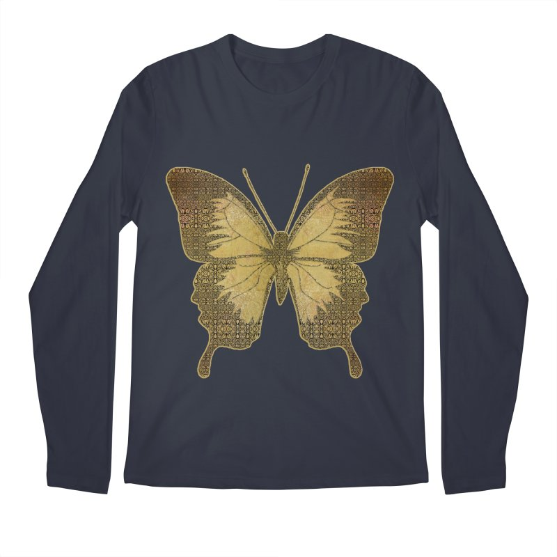 Golden Butterfly Men's Regular Longsleeve T-Shirt by zuzugraphics's Artist Shop