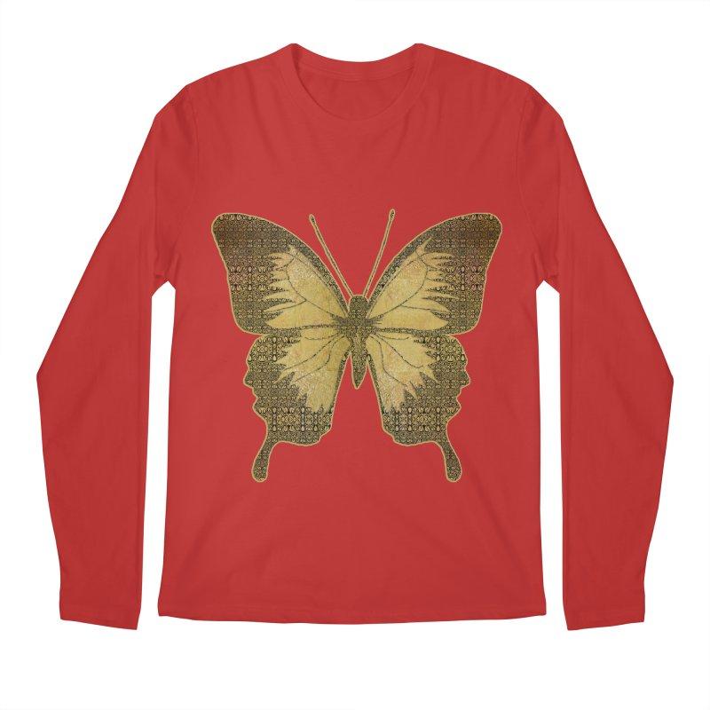 Golden Butterfly Men's Regular Longsleeve T-Shirt by zuzugraphics's Artist Shop