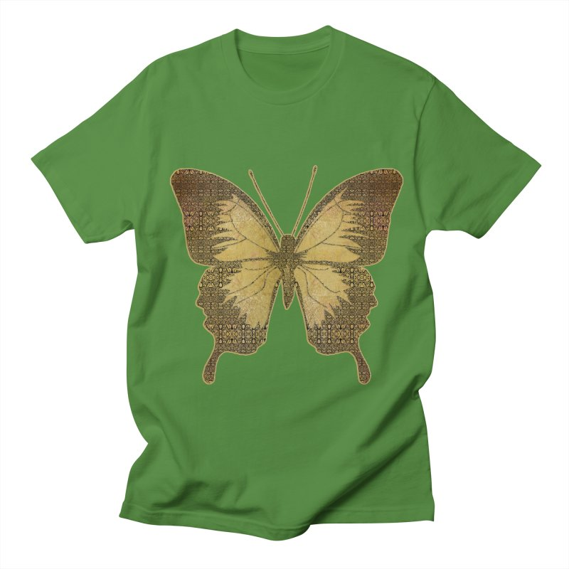 Golden Butterfly Men's Regular T-Shirt by zuzugraphics's Artist Shop