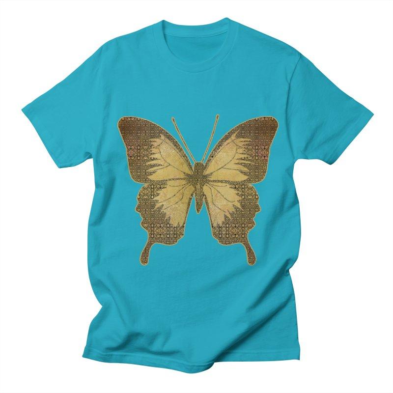 Golden Butterfly Men's Regular T-Shirt by zuzugraphics's Artist Shop