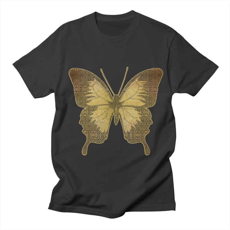 Golden Butterfly Men's T-Shirt by zuzugraphics's Artist Shop