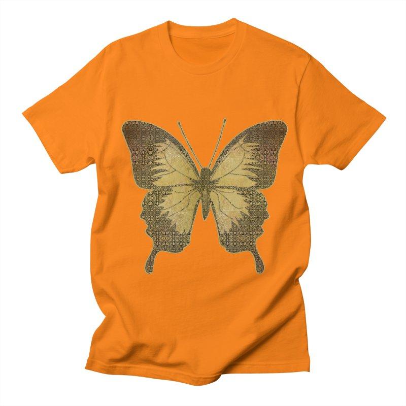 Golden Butterfly Women's Regular Unisex T-Shirt by zuzugraphics's Artist Shop