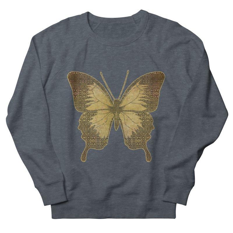 Golden Butterfly Women's French Terry Sweatshirt by zuzugraphics's Artist Shop