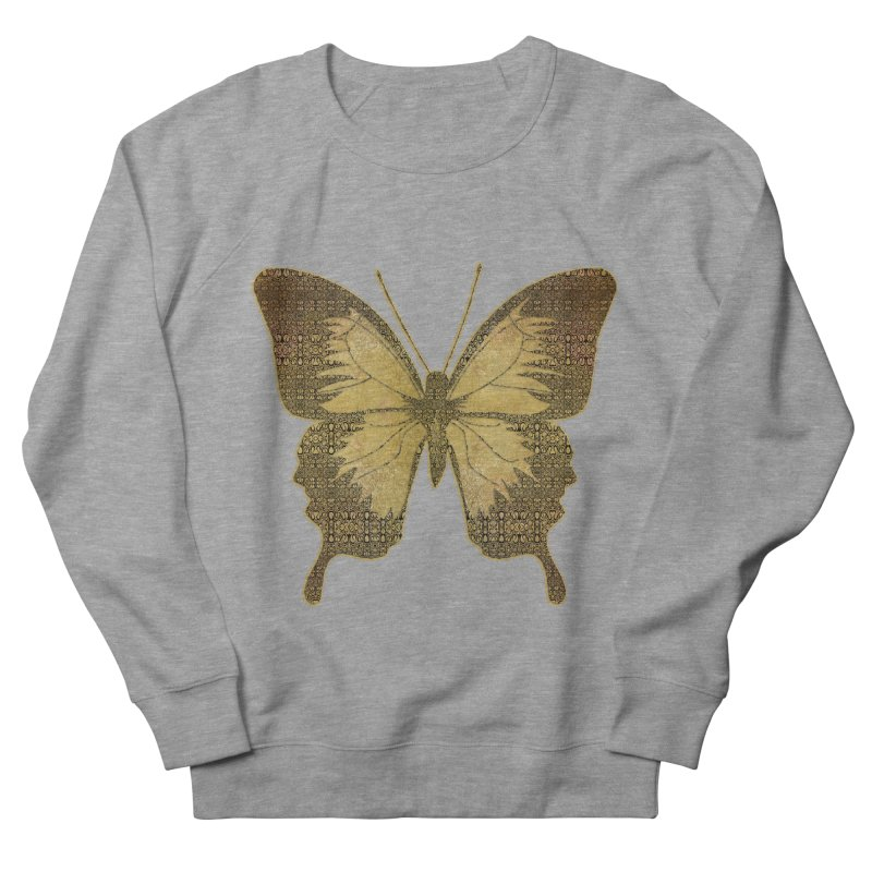 Golden Butterfly Women's French Terry Sweatshirt by zuzugraphics's Artist Shop