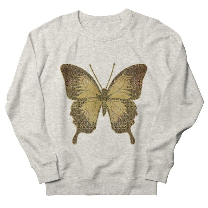 Golden Butterfly Men's French Terry Sweatshirt by zuzugraphics's Artist Shop