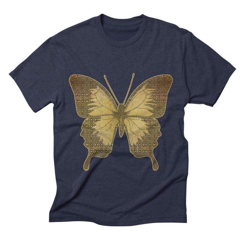Golden Butterfly Men's Triblend T-Shirt by zuzugraphics's Artist Shop