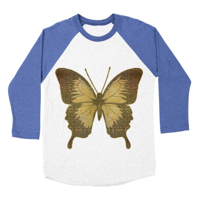 Golden Butterfly Women's Baseball Triblend Longsleeve T-Shirt by zuzugraphics's Artist Shop