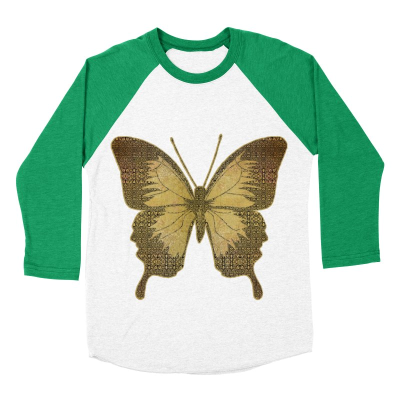 Golden Butterfly Women's Baseball Triblend Longsleeve T-Shirt by zuzugraphics's Artist Shop