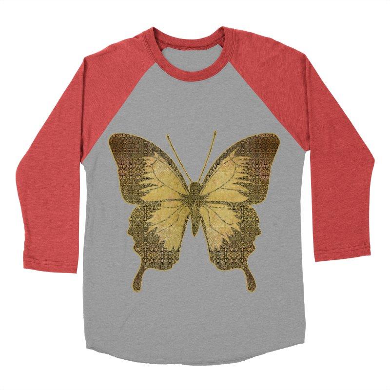 Golden Butterfly Men's Baseball Triblend Longsleeve T-Shirt by zuzugraphics's Artist Shop