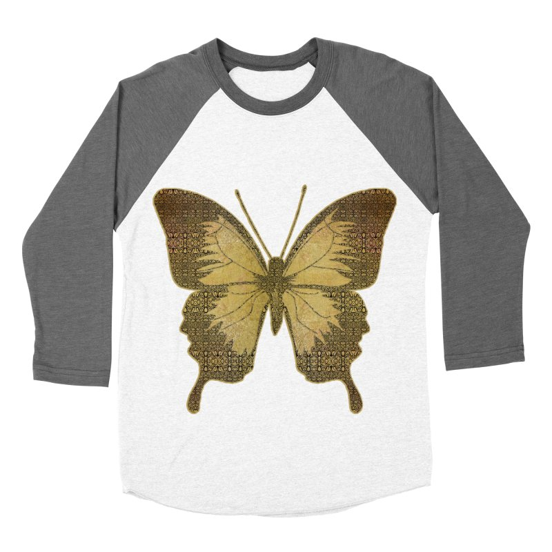 Golden Butterfly Men's Baseball Triblend Longsleeve T-Shirt by zuzugraphics's Artist Shop