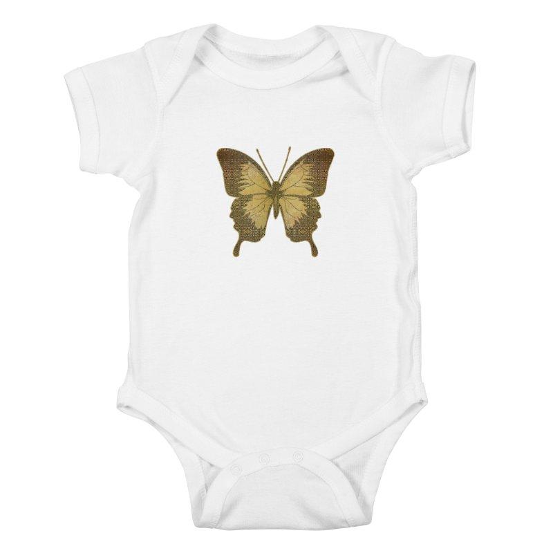Golden Butterfly Kids Baby Bodysuit by zuzugraphics's Artist Shop