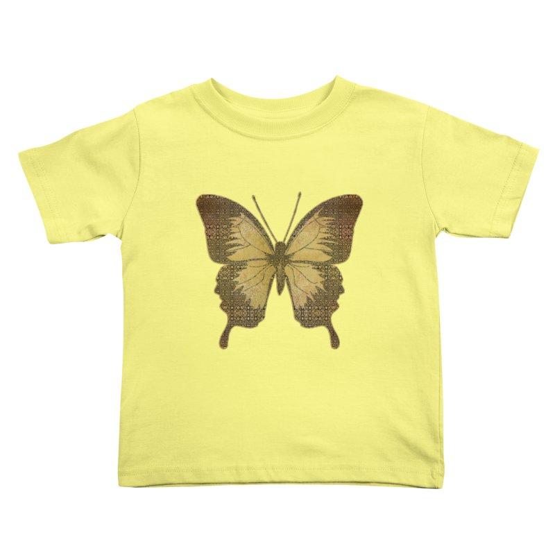 Golden Butterfly Kids Toddler T-Shirt by zuzugraphics's Artist Shop