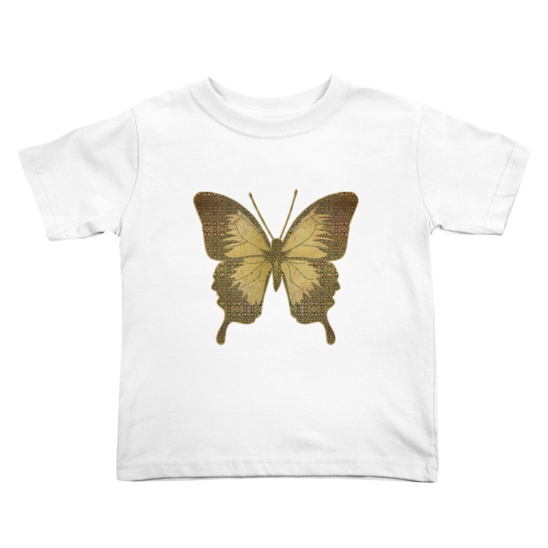 Golden Butterfly Kids Toddler T-Shirt by zuzugraphics's Artist Shop