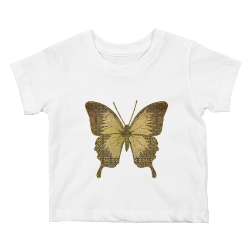 Golden Butterfly Kids Baby T-Shirt by zuzugraphics's Artist Shop