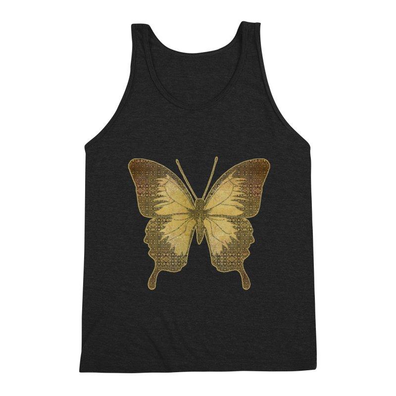 Golden Butterfly Men's Triblend Tank by zuzugraphics's Artist Shop