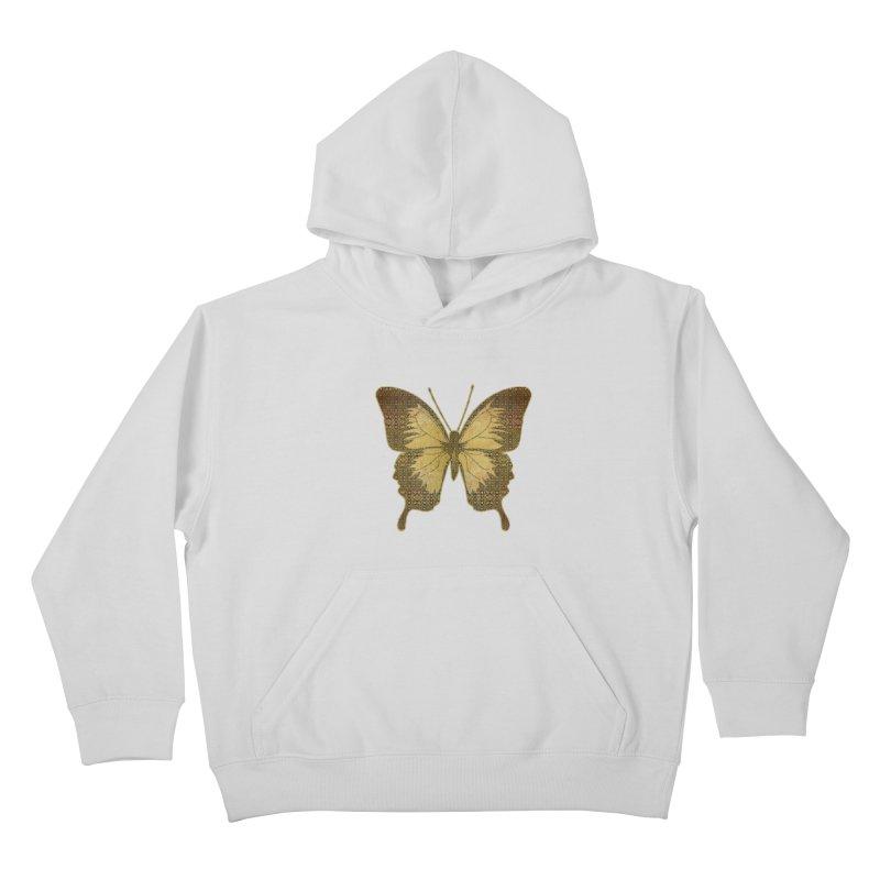 Golden Butterfly Kids Pullover Hoody by zuzugraphics's Artist Shop