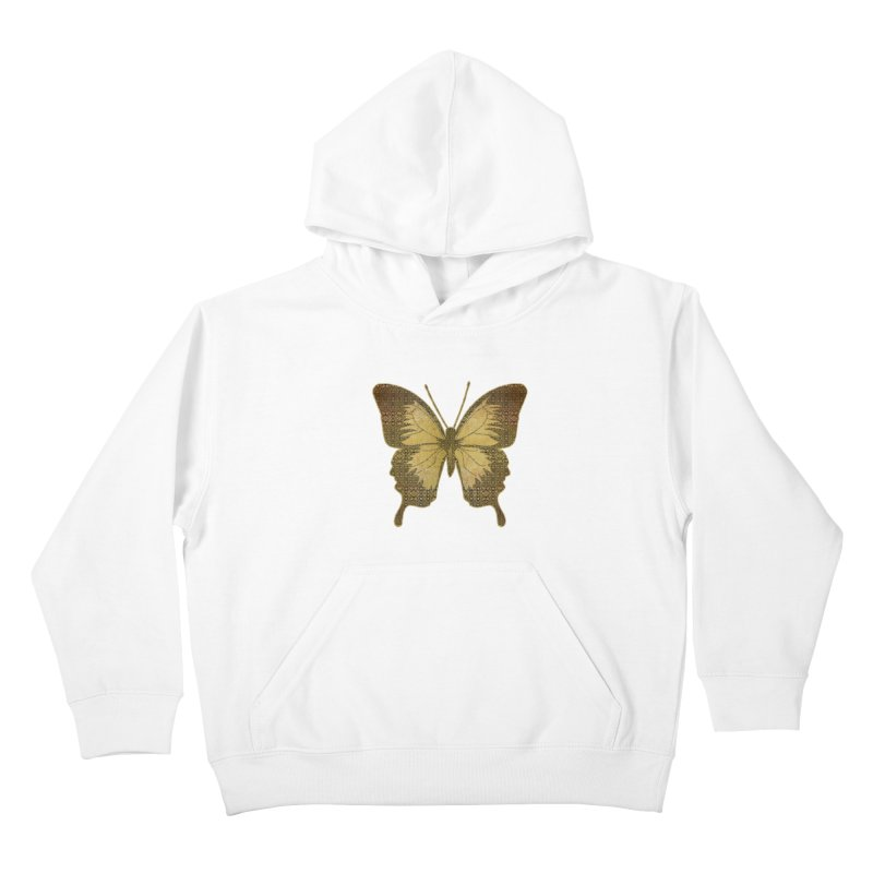 Golden Butterfly Kids Pullover Hoody by zuzugraphics's Artist Shop