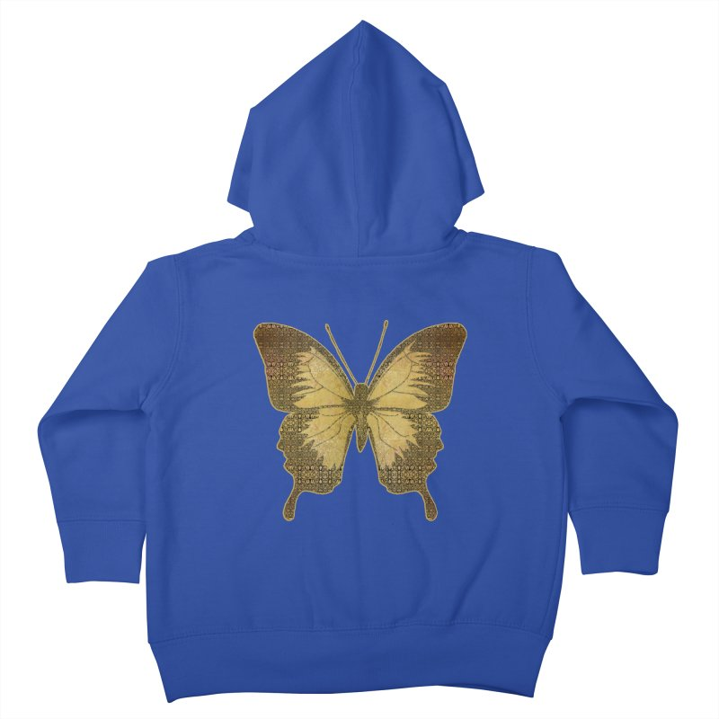 Golden Butterfly Kids Toddler Zip-Up Hoody by zuzugraphics's Artist Shop