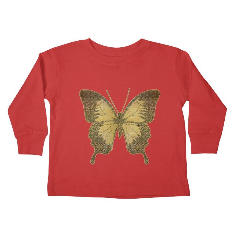 Golden Butterfly Kids Toddler Longsleeve T-Shirt by zuzugraphics's Artist Shop