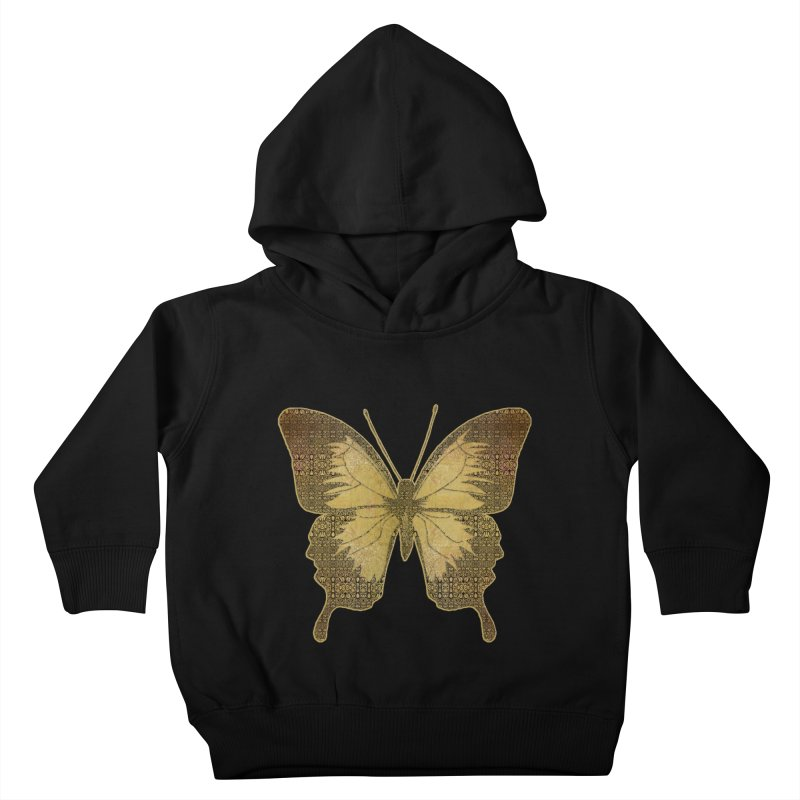 Golden Butterfly Kids Toddler Pullover Hoody by zuzugraphics's Artist Shop