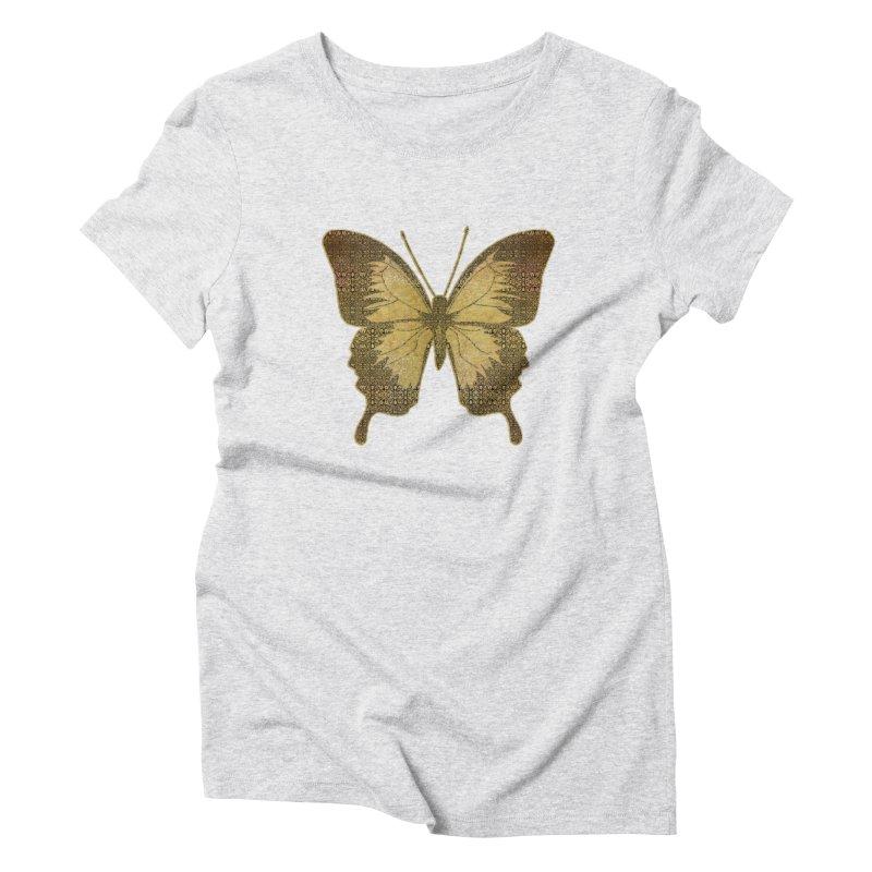 Golden Butterfly Women's T-Shirt by zuzugraphics's Artist Shop